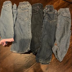 Other - Lot of baby girl blue jeans size 18 months